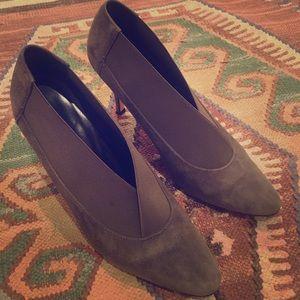 Manolo Blahnik Shoes - Manolo Blahnik elastic cuff suede booties 36